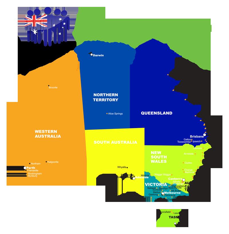 Australia study map